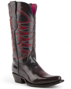 Ferrini Women's Spitfire Western Boots - Snip Toe, Black Cherry, hi-res