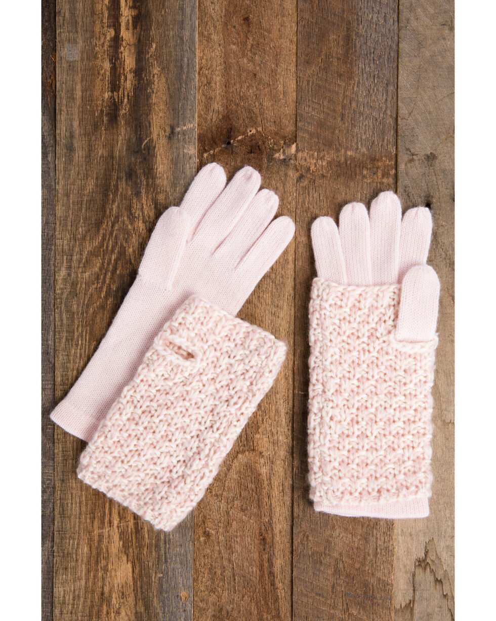 Idyllwind Women's Pink Cozytown 3 Way Gloves, Pink, hi-res