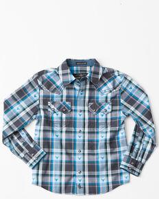 4aeb2607 Cody James Toddler Boys Bushwacker 2.0 Sawtooth Long Sleeve Western Shirt ,  Blue, hi-