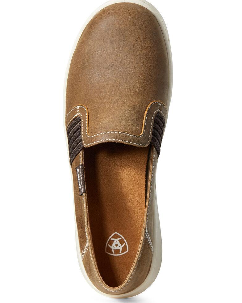 Ariat Women's Ryder Brown Bomber Slip-on Shoes, Brown, hi-res