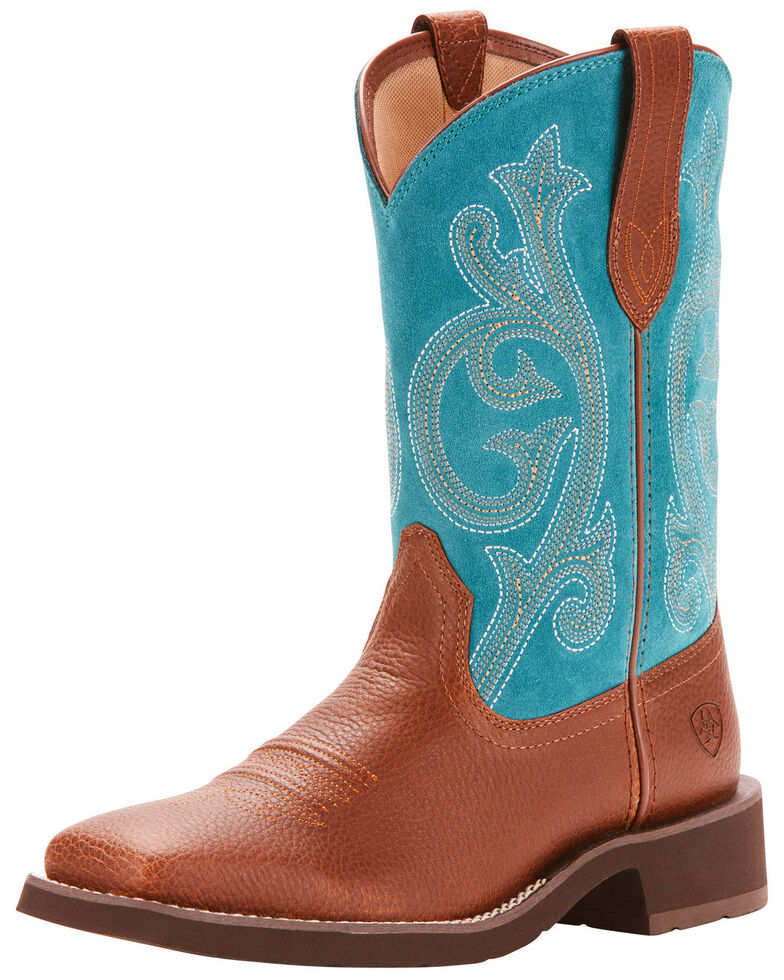 Ariat Women's Leather & Suede Western Boots - Square Toe, , hi-res