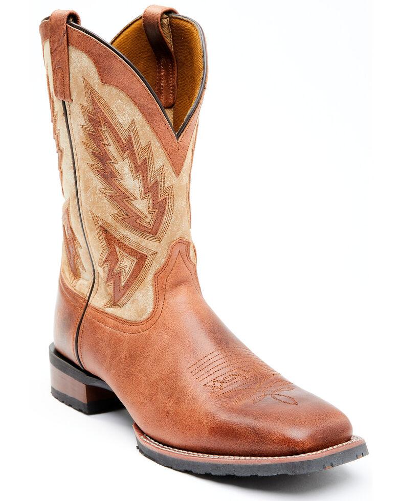 Laredo Men's Koufax Western Boots - Wide Square Toe, Brown, hi-res