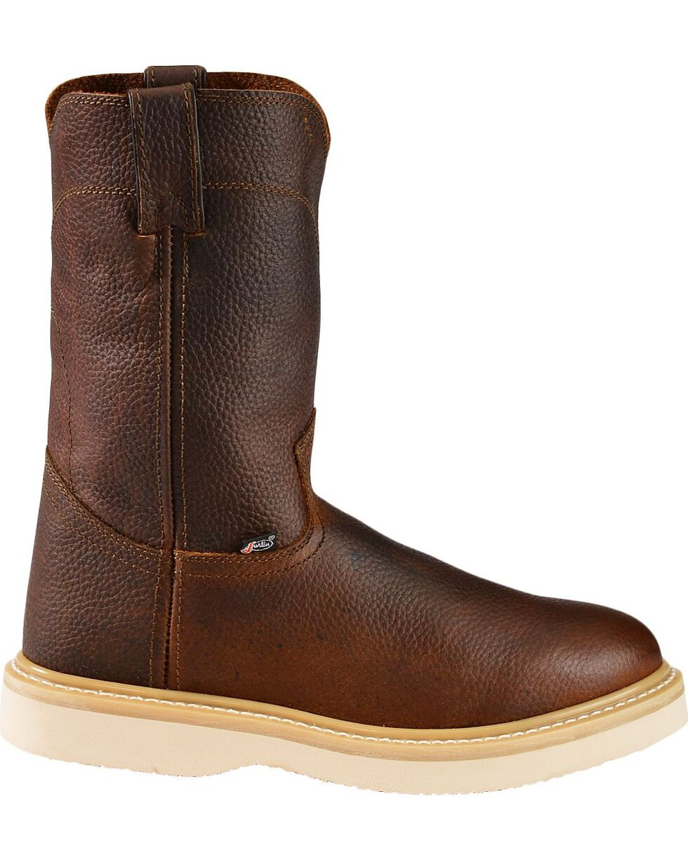Justin Men's Premium Wedge Work Boots, Tan, hi-res