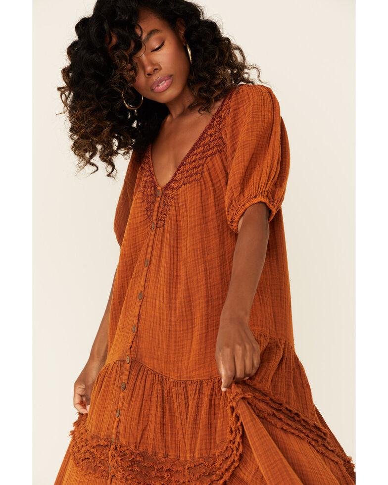 Free People Women's Sunday Stroll Maxi Dress, Rust, hi-res