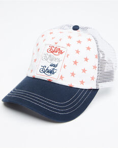 Shyanne Women's Stars Stripes And Shots Patch Ball Cap , Tan, hi-res