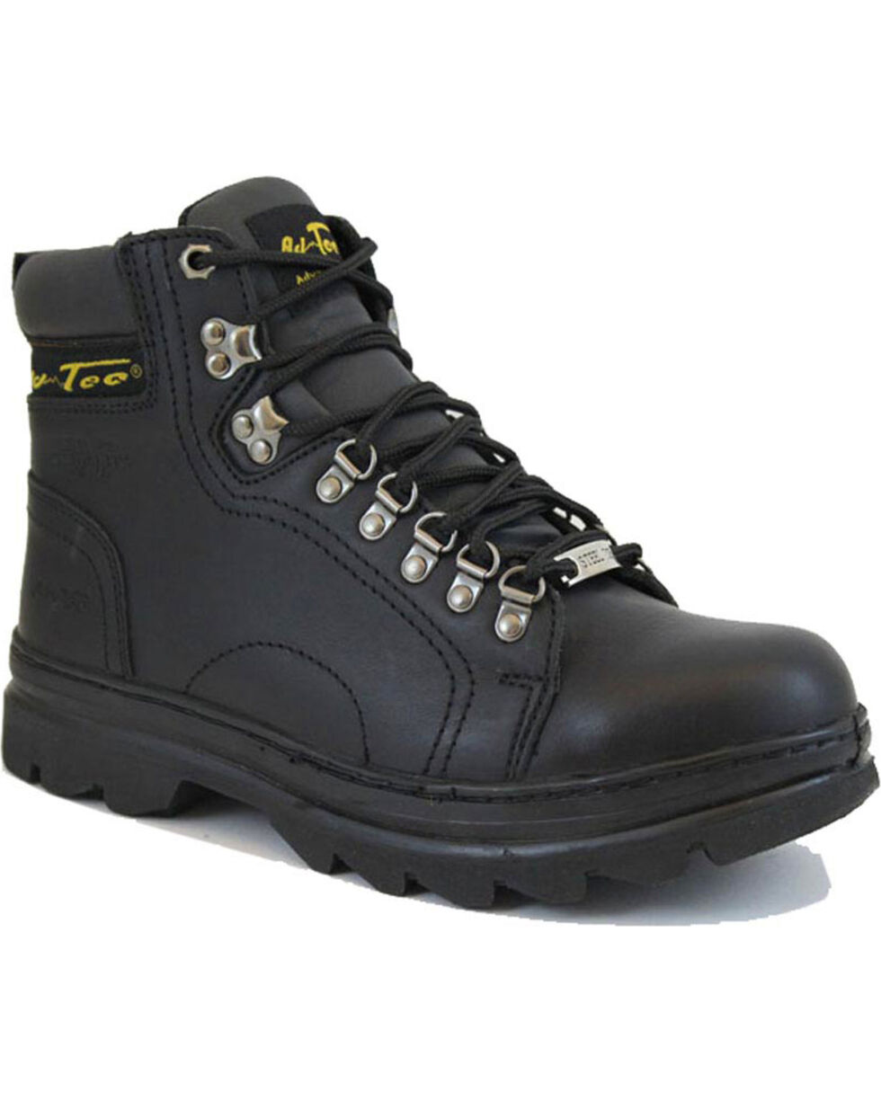 "Ad Tec Men's 6"" Lace Up Hiker Boots, Black, hi-res"