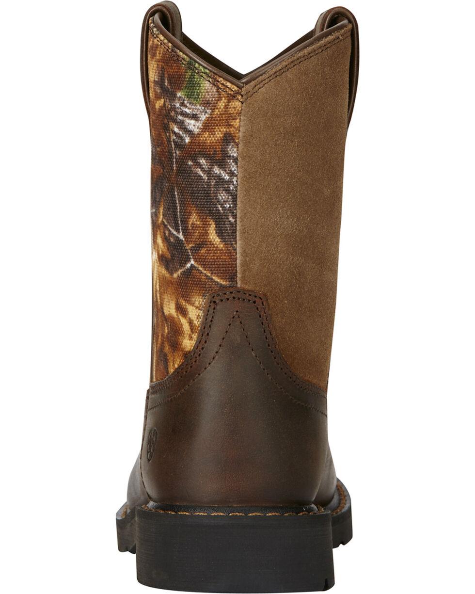Ariat Kids' Sierra Western Work Boots, Black, hi-res