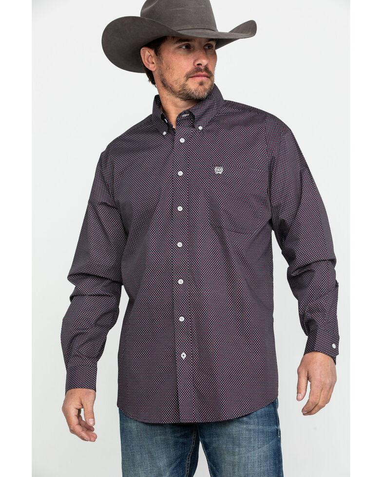 Cinch Men's Multi Tencel Geo Print Long Sleeve Western Shirt , Multi, hi-res