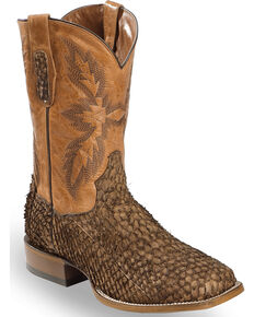 Dan Post Men's Chocolate Sea Bass Stockman Boots - Square Toe, Chocolate, hi-res