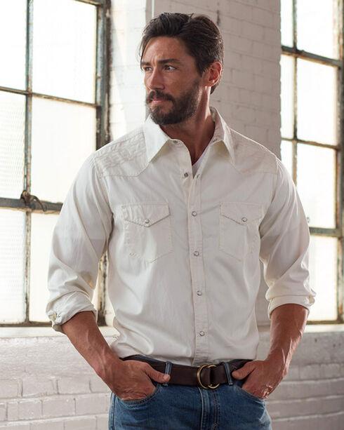 Ryan Michael Men's Whip Stitch Gabardine Long SleeveShirt, White, hi-res
