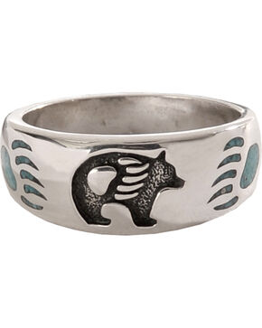 Silver Legends Turquoise Bear Paw Ring, Turquoise, hi-res