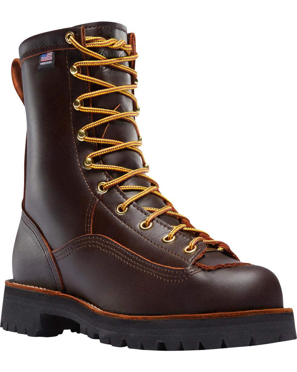 """Danner Men's Rain Forest 8"""" Work Boots, Brown, hi-res"""