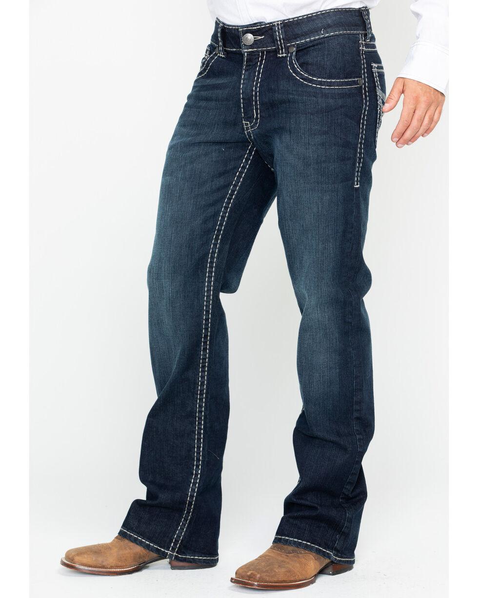 Wrangler Rock 47 Men's Piano Relaxed Boot Jeans , Dark Blue, hi-res