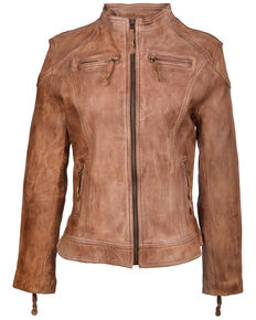 STS Ranchwear Women's Vienna Leather Jacket - Plus, Cognac, hi-res