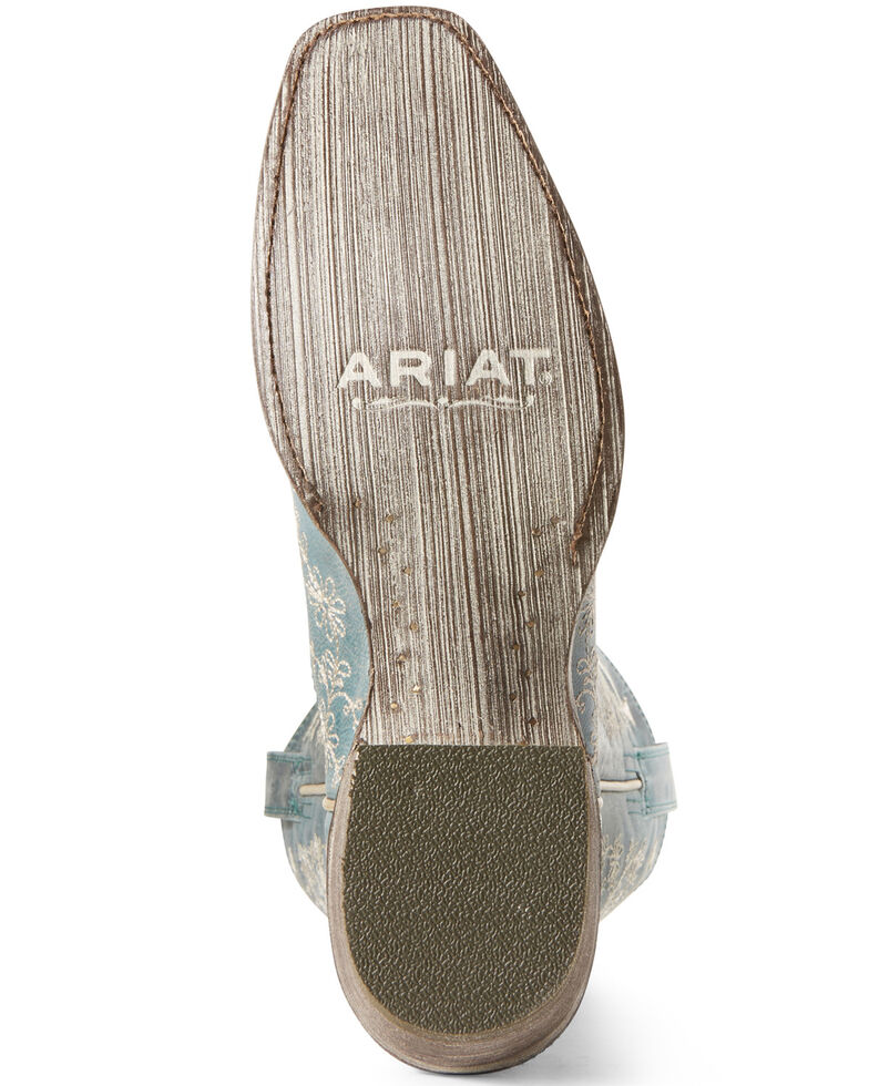 Ariat Women's Fleur Lagoon Western Boots - Square Toe, Blue, hi-res