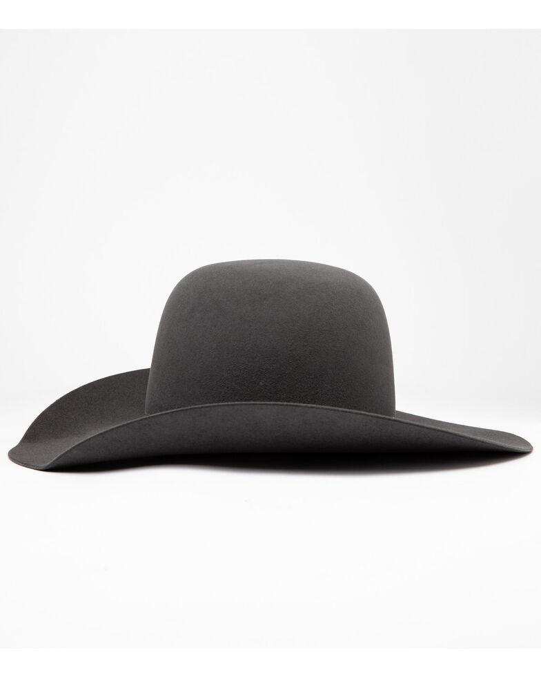 Rodeo King Men's 5X Bull Rider Slate Line Cowboy Felt Hat, Grey, hi-res