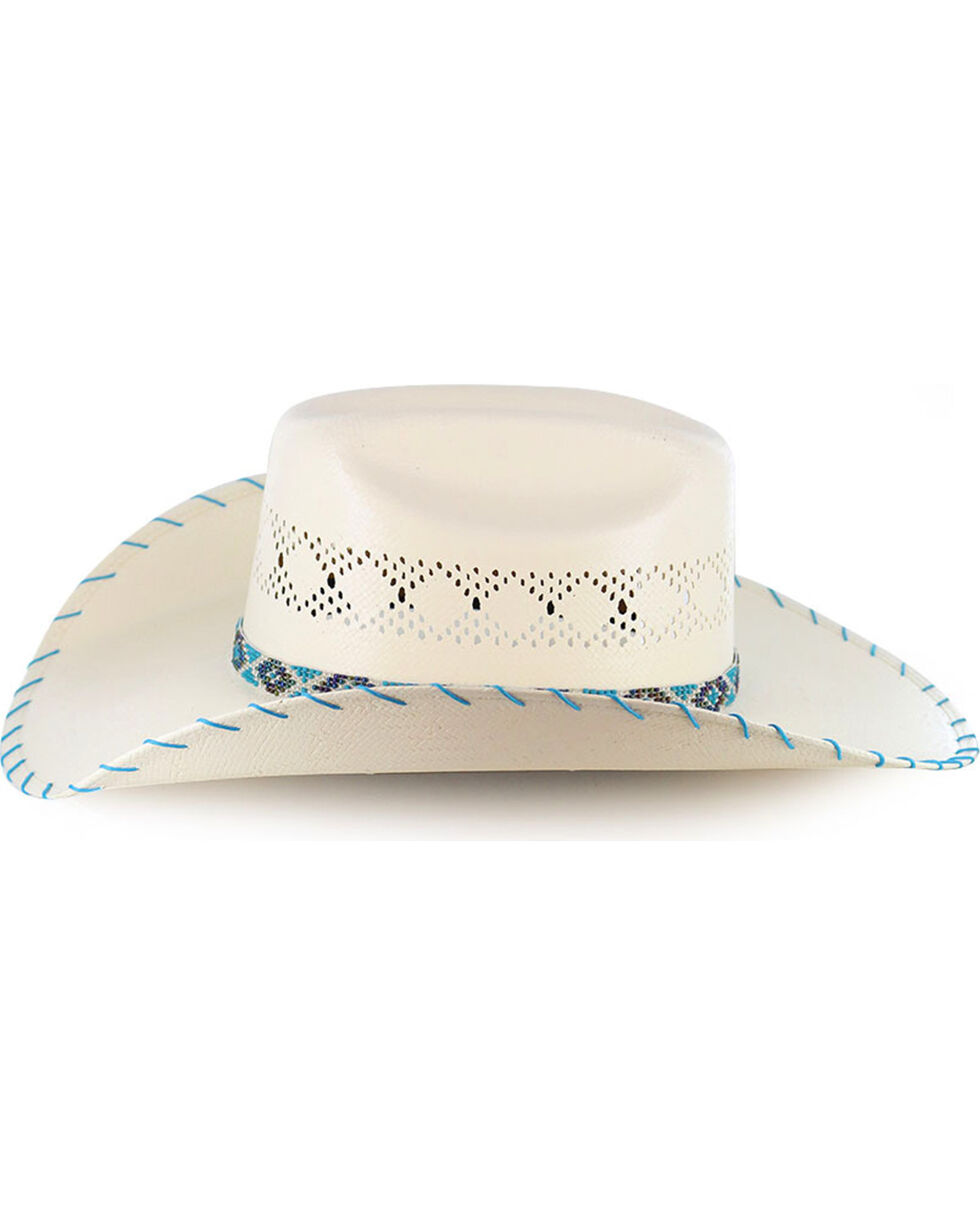 Charlie 1 Horse Kids' Apache Straw Hat, Natural, hi-res