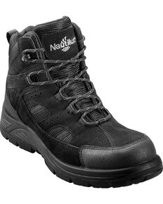 Nautilus Men's Comp Toe Waterproof EH Lace Up Boots, Black, hi-res