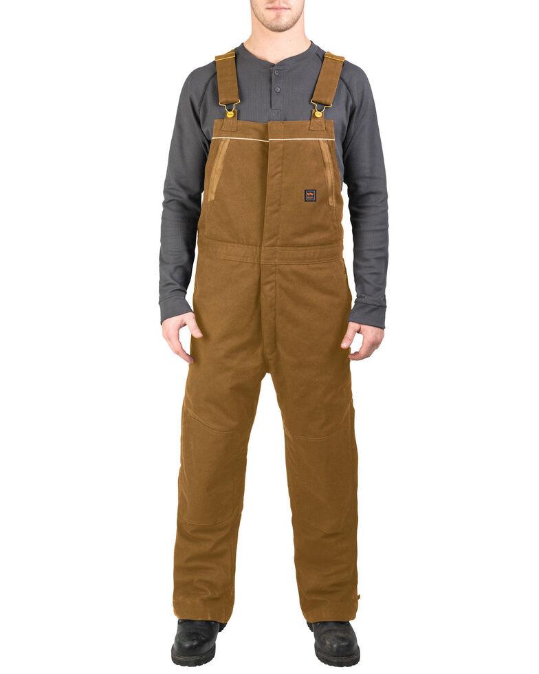 Walls Men's Brown Frost Blizzard Pruf Insulated Bib Overalls , Pecan, hi-res