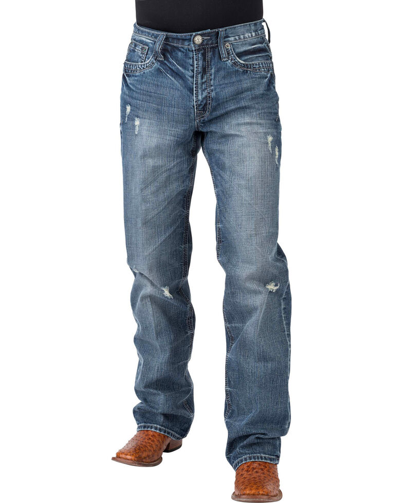 Tin Haul Men's Regular Joe Fit Medium Wash Bootcut Jeans, Indigo, hi-res