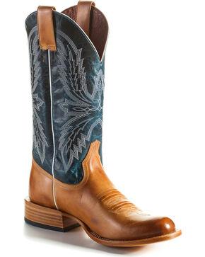 Horse Power Men's Golden Haystack Cowboy Boots - Round Toe, Tan, hi-res
