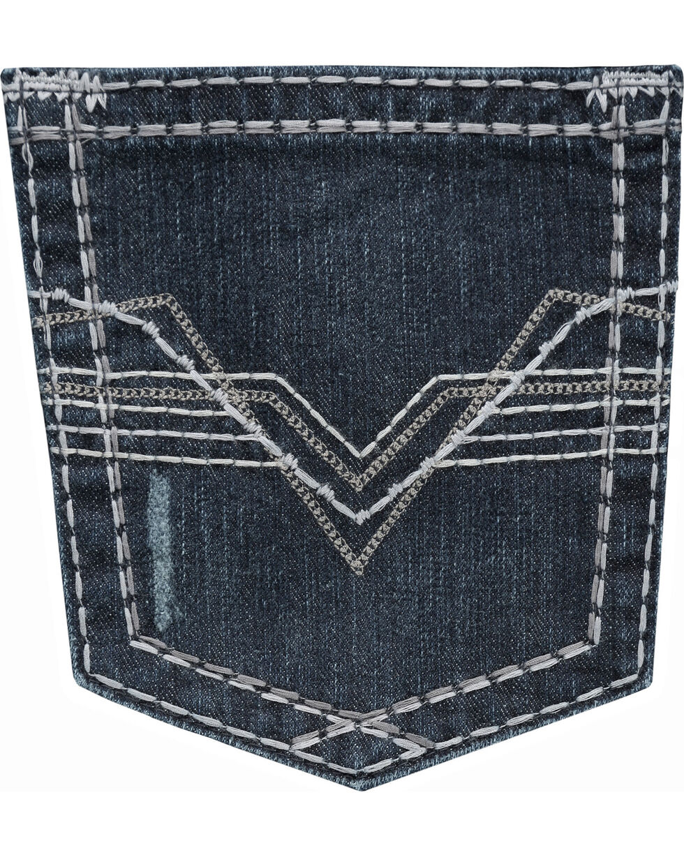 Wrangler Rock 47 Men's Verse Blue Slim Fit Jeans - Straight Leg  , Blue, hi-res
