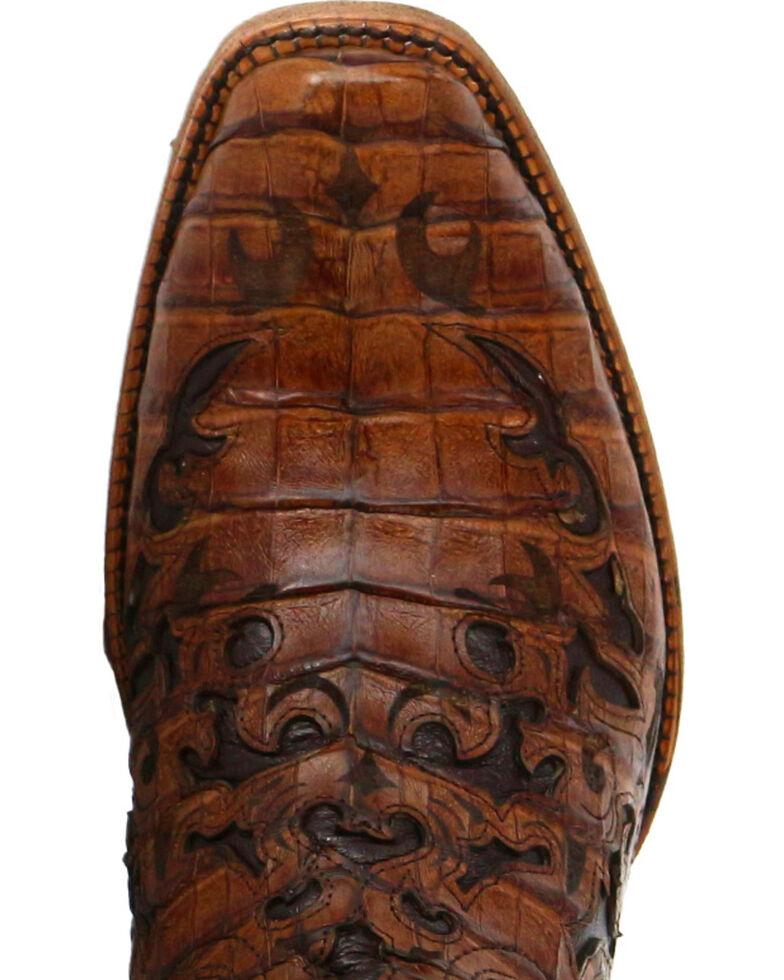 Corral Men's Caiman Laser Cut Square Toe Western Boots, Brown, hi-res