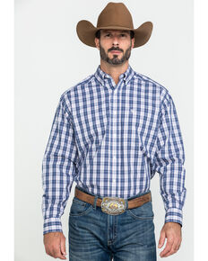 Ariat Men's Wrinkle Free Iola Plaid Long Sleeve Western Shirt , Multi, hi-res