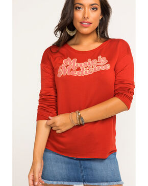 Idyllwind Women's Music Is Medicine Favorite Fleece Top, Red, hi-res