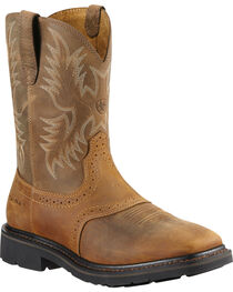 Ariat Men's Sierra Steel Square Toe Western Work Boots, , hi-res