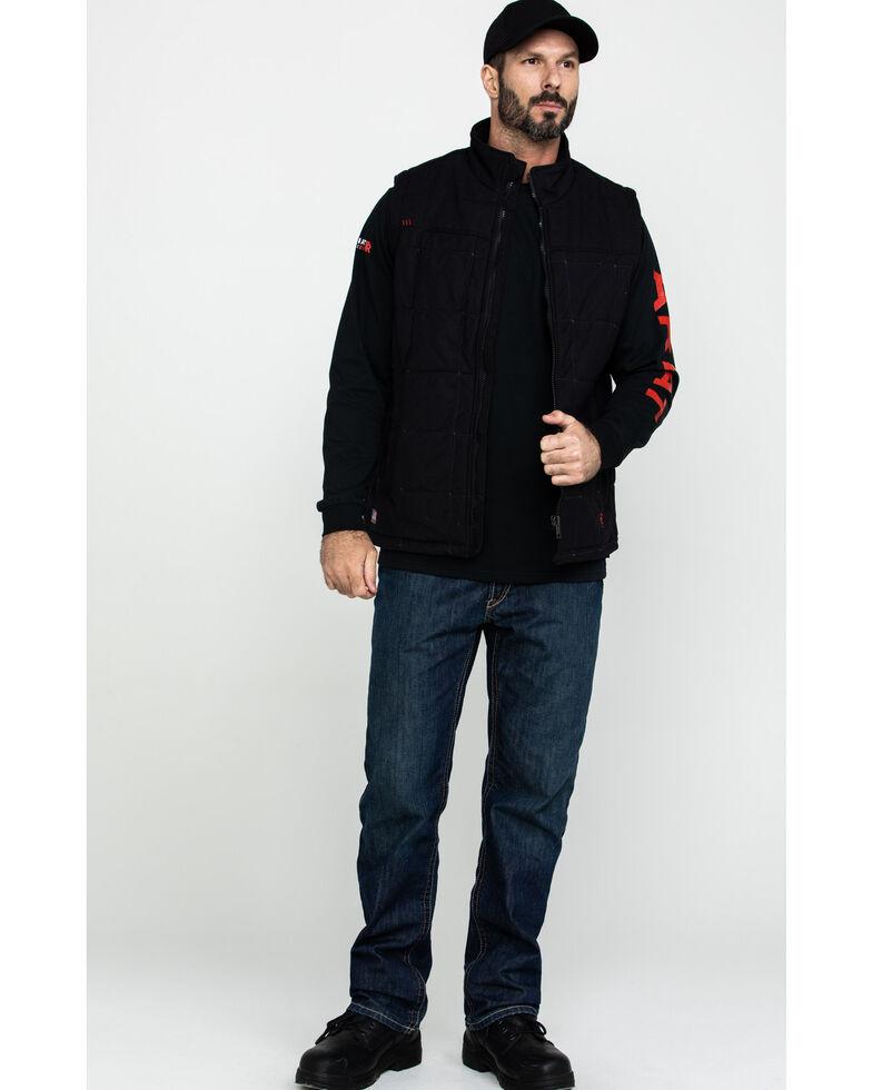 Ariat Men's Black FR Crius Insulated Work Vest , Black, hi-res