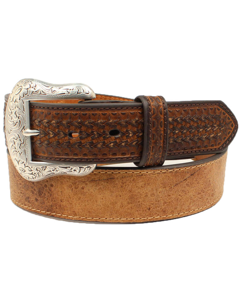 M&F Western Men's High Precision Western Belt, Brown, hi-res