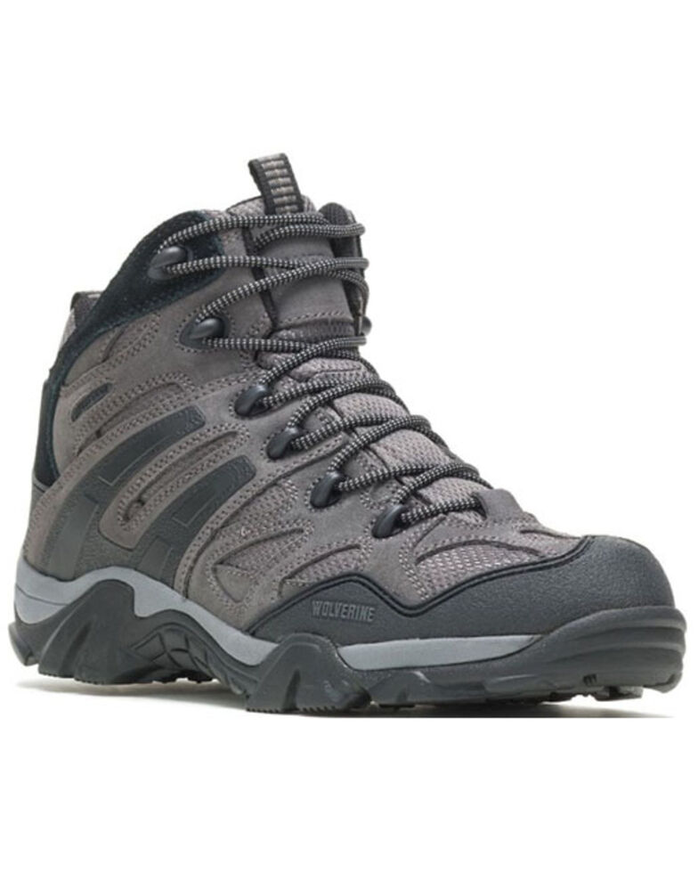 Wolverine Men's Wilderness Hiking Boots - Soft Toe, Charcoal, hi-res