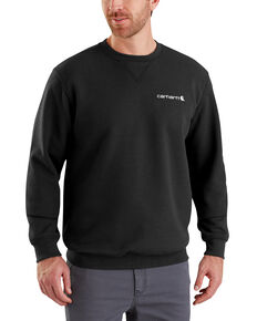 Carhartt Men's Midweight Graphic Crew Work Sweatshirt, Black, hi-res