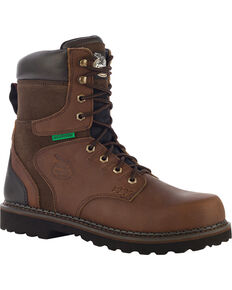 Georgia Men's Steel Toe Waterproof Brookville Work Boots, Brown, hi-res