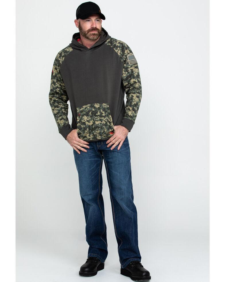 Ariat Men's FR Durastretch Camo Patriot Hoodie Work Sweatshirt , Camouflage, hi-res
