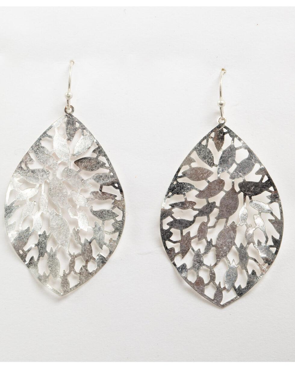 Shyanne Women's Fancy Cut Out Dangle Earrings, Silver, hi-res