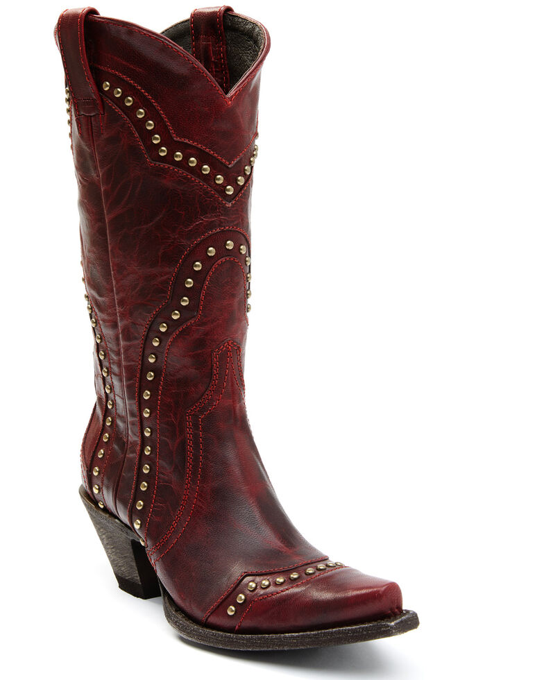 Idyllwind Women's Rebel Red Western Boots - Snip Toe, Red, hi-res