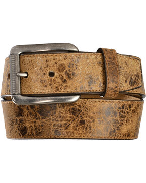 Justin Men's Tailgunner Leather Belt, Tan, hi-res
