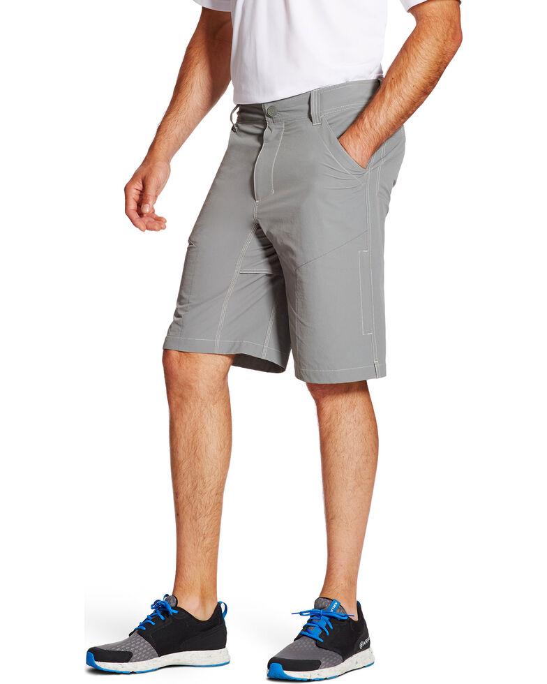 Ariat Men's Grey Tek Cargo Shorts , Grey, hi-res