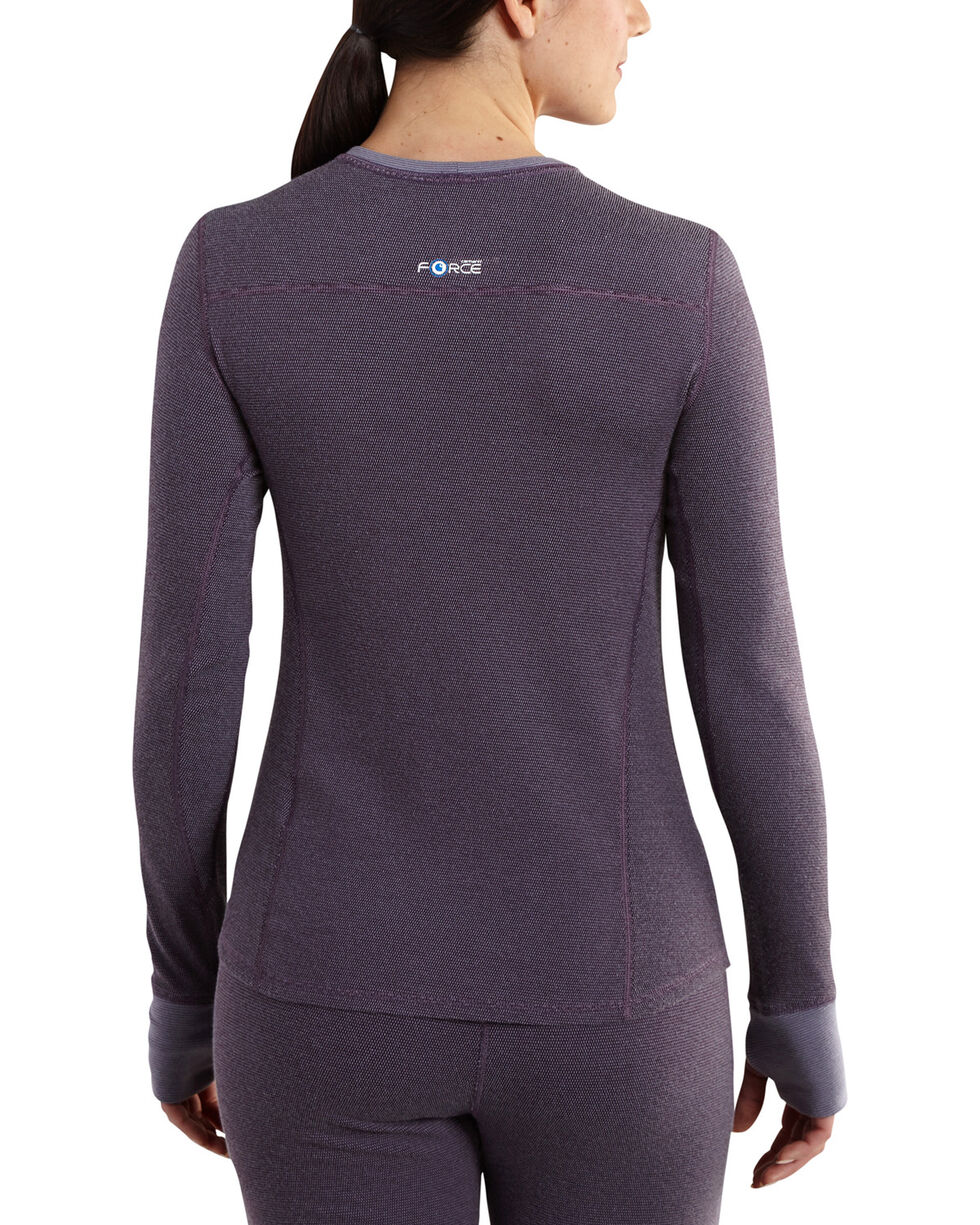 Carhartt Women's Base Force Cold Weather Crewneck Top, Purple, hi-res
