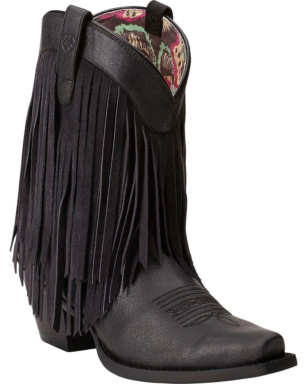 Ariat Women's Gold Rush Western Boots, Black, hi-res