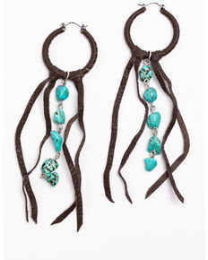 Idyllwind Women's Boho Fringe Earrings, Brown, hi-res