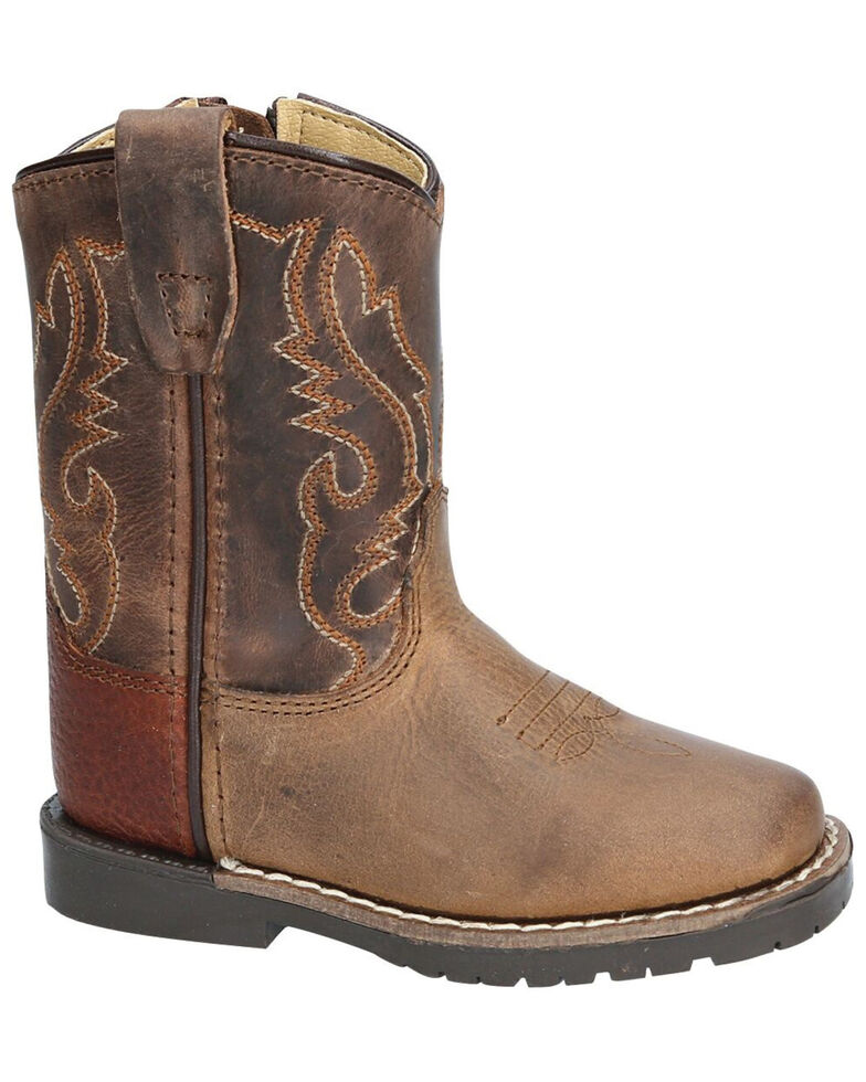 Smoky Mountain Toddler Boys' Autry Western Boots - Square Toe, Distressed Brown, hi-res