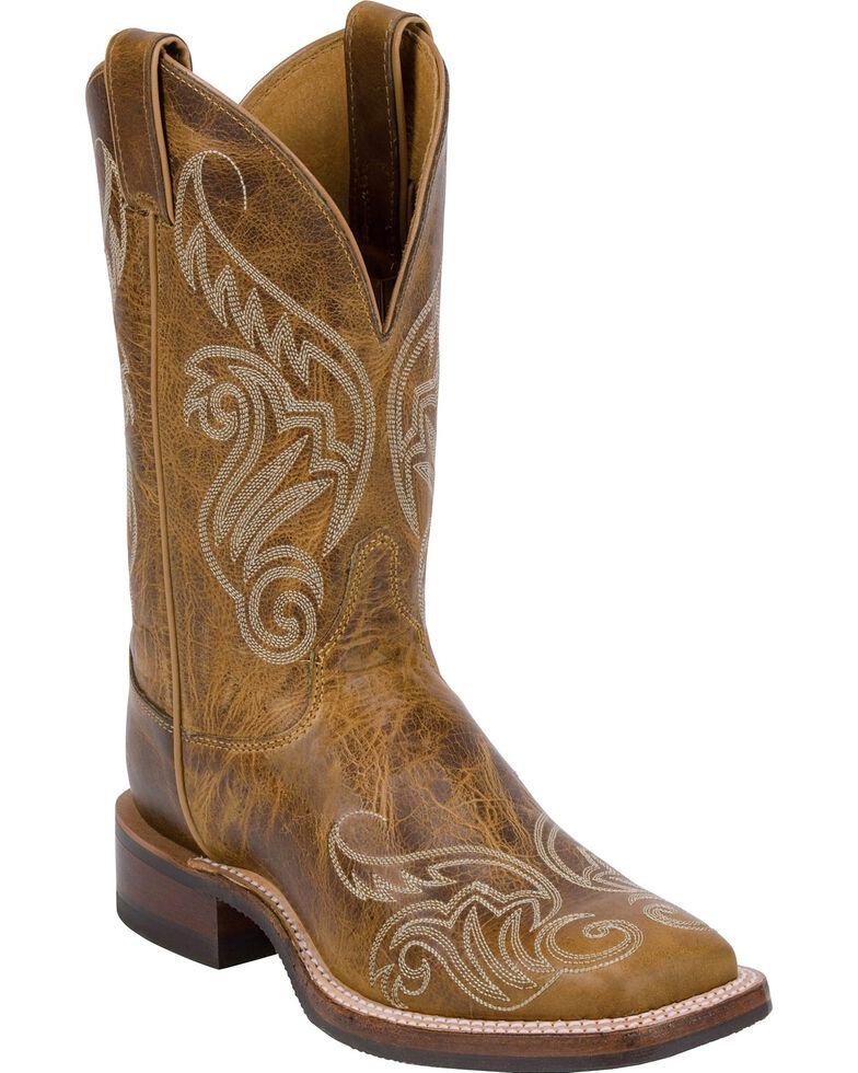 Justin Bent Rail Women's Damiana Square Toe Western Boots, Tan, hi-res