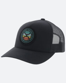 HOOey Men's Black Guadalupe Sunset Trucker Cap , Black, hi-res