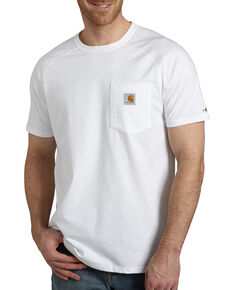 Carhartt Men's White Force Cotton Short Sleeve Work T-Shirt , White, hi-res