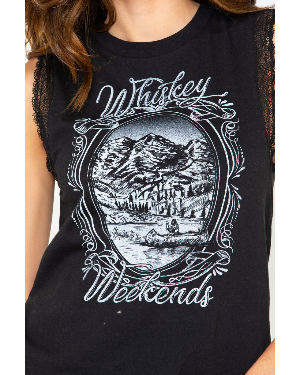 IOC Women's Whiskey Graphic Tank, Charcoal, hi-res