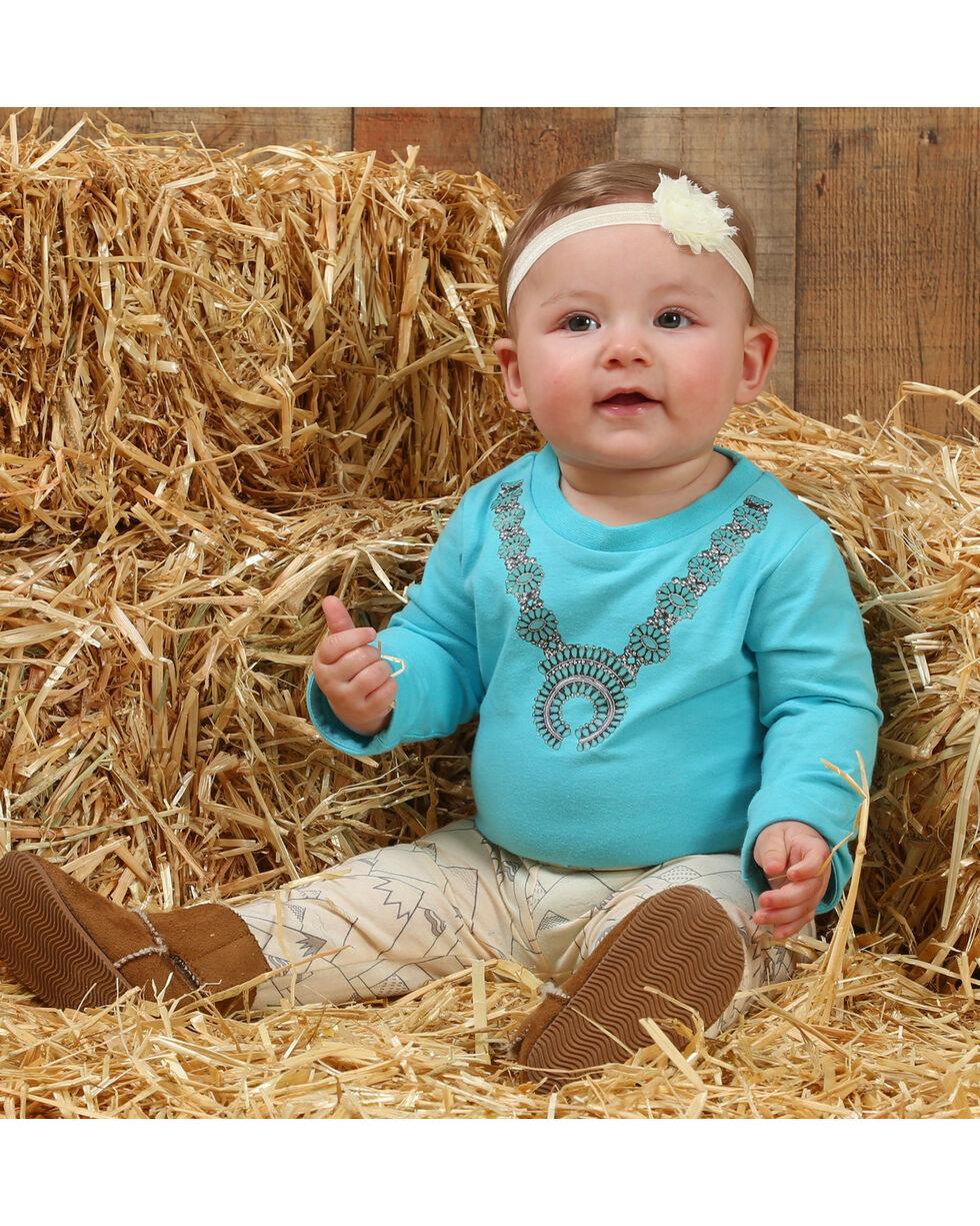 Wrangler Infant Girls' Turquoise Necklace Onesie , Turquoise, hi-res
