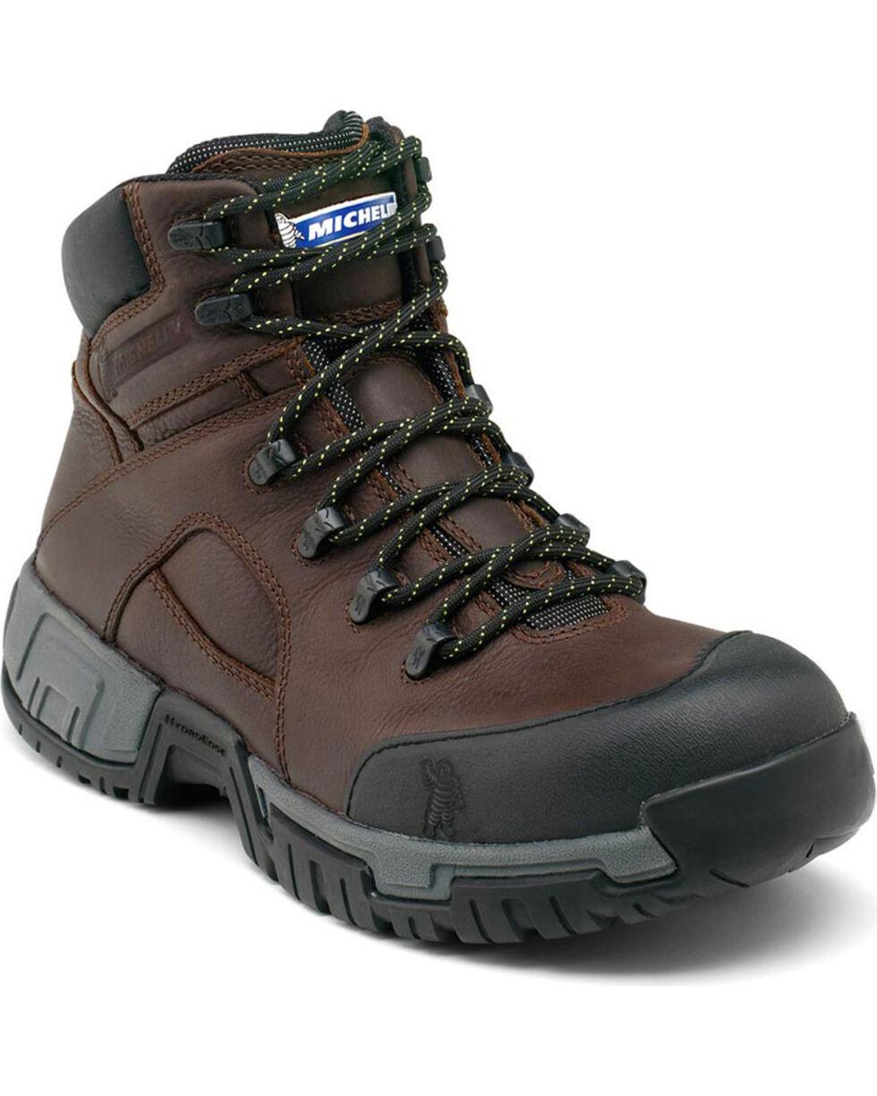 "Michelin Men's HydroEdge WP 6"" Work Boots, Black, hi-res"